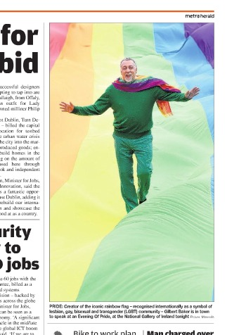 absolutpride evening with Iconic Rainbow Flag creator