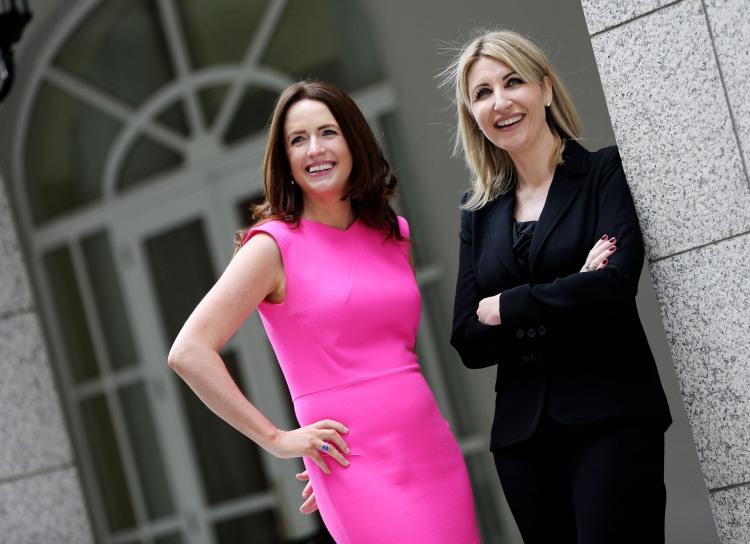 Picture shows l-r, Ramona Nicholas, CEO & Co-Founder, Cara Pharmacy Group and Aisling Keegan, GM, Private and Large Commercial Business, Dell, UK at the Leadership Summit and Awards dinner for Ireland's Most Powerful Women: Top 25 Awards, organised by the Women's Executive Network (WXN) and attended by 600 people in the Four Seasons on June 19th, 2014.